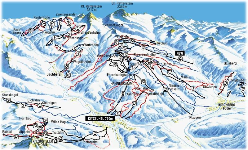 Карта трасс Китцбюэль
